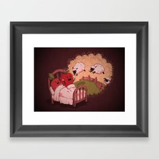 sleepsheep (counting them doesn't always help) Framed Art Print