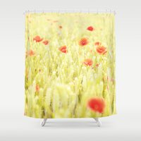 poppies Shower Curtains featuring Poppies by Falko Follert Art-FF77