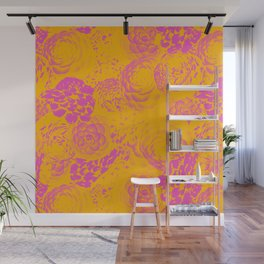 Florals Inversion Wall Mural
