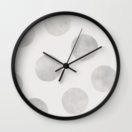 Silver Polka Dots Wall Clock