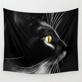 Portrait of a cool cat Wall Tapestry