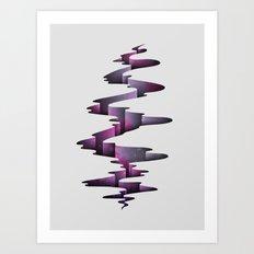 Tectonic Wormhole Art Print