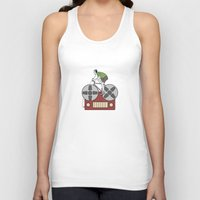 tape Tank Tops featuring Tape Rider by Janko Illustration