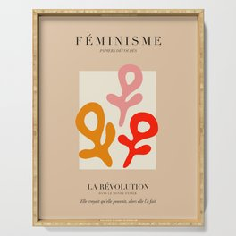 L'ART DU FÉMINISME II Serving Tray
