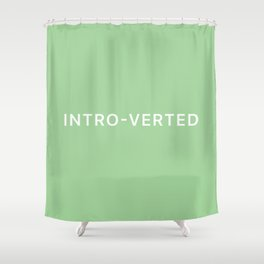 'INTRO-VERTED' - Green Shower Curtain