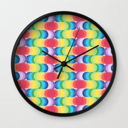 Rainbow Dragon Scales 2 Wall Clock