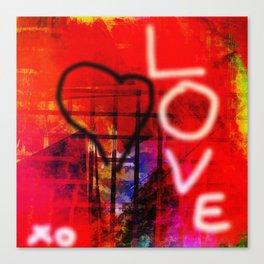 Love Graffiti Canvas Print