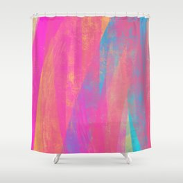 Enchant Me - Wide Nikko Rull Abstract Digital Painting Shower Curtain