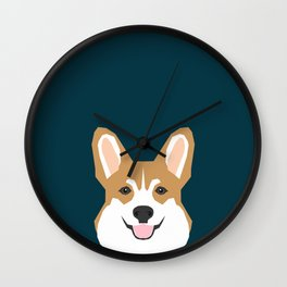 Teagan - Corgi Welsh Corgi gift phone case design for pet lovers and dog people Wall Clock