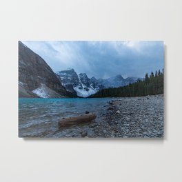 Moraine Lake Final Blue Hour Metal Print