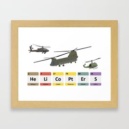 Military Helicopters Chemistry Framed Art Print