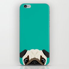 Peeking Pug iPhone Skin