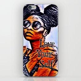 Love Your Self African American Black Woman iPhone Skin