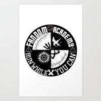 fandom Art Prints featuring Ultimate Fandom Academy by Thg Fashion