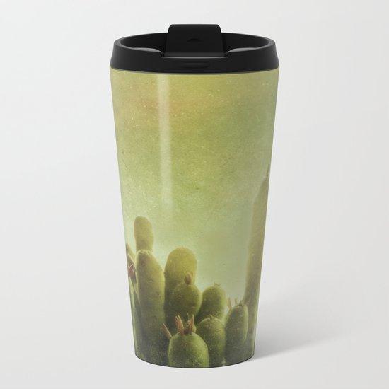 Cactus in my mind Metal Travel Mug