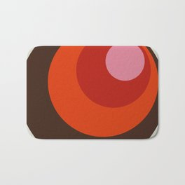 Gleti - Classic Colorful Abstract Minimal Retro 70s Style Dots Design Bath Mat