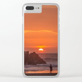 Walk at Sunset Clear iPhone Case