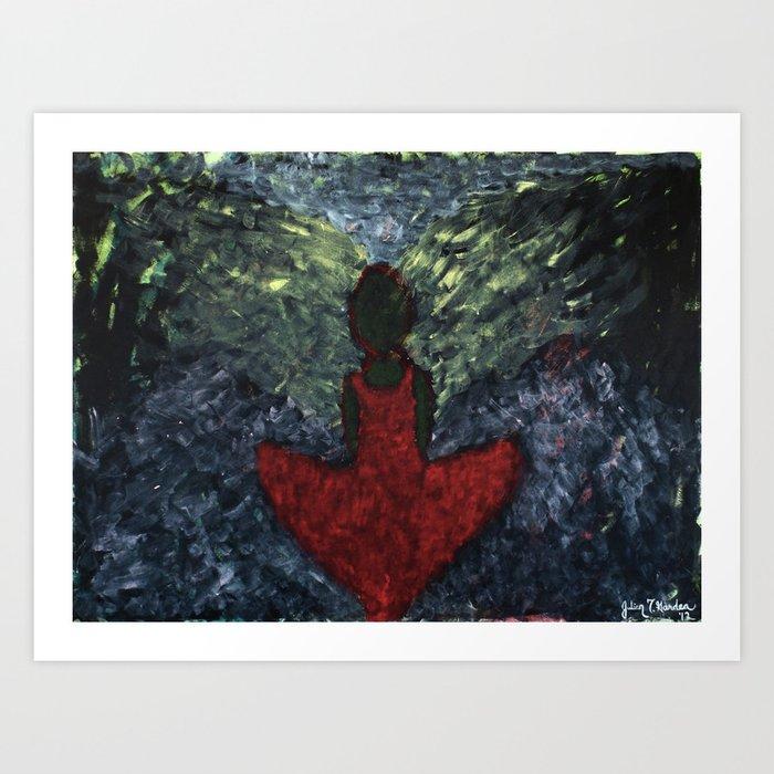"""""""Stranger Red"""" Art Print"""