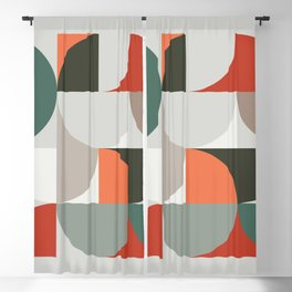 Mid Century Geometric 14 Blackout Curtain