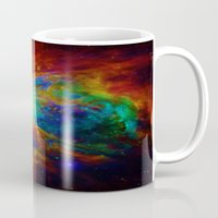 nebula Mugs featuring Orion NEBula  : Colorful Galaxy by 2sweet4words Designs