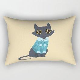 Cozy cat Rectangular Pillow