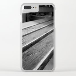 Worn Down Bench Clear iPhone Case