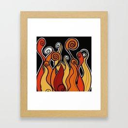 Flames on fire Framed Art Print