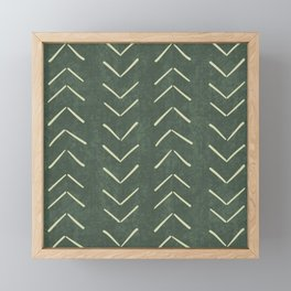 Mudcloth Big Arrows in Leaf Green Framed Mini Art Print
