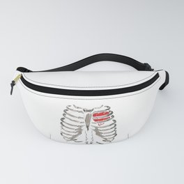X-Ray Skeleton Rib Cage Gothic Halloween Costume Gift Fanny Pack