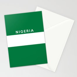 Nigeria country flag name text  Stationery Cards