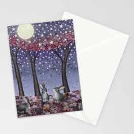 starlit bunnies Stationery Cards