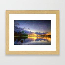 Lakeside Textures Framed Art Print