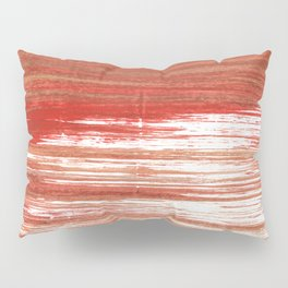Medium carmine abstract watercolor Pillow Sham