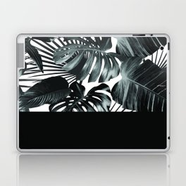 Palm Leaves and Black Laptop & iPad Skin