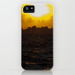Sea waves at sunset iPhone Case