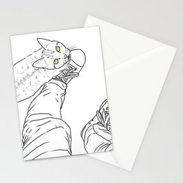 Everything I know I learned from my cat Stationery Cards