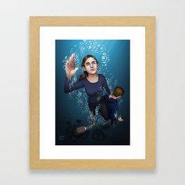Fitzsimmons - Ninety Feet on One Breath Framed Art Print
