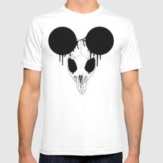 Mickey Mouse Skull MEDIUM Mens Fitted Tee White