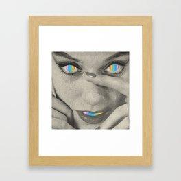 Internal rainbow Framed Art Print