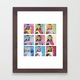 Celia Cruz Pop Art - The Immortal Queen of Salsa - Magical Realism Framed Art Print