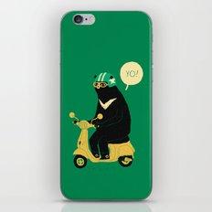 scooter bear green iPhone & iPod Skin