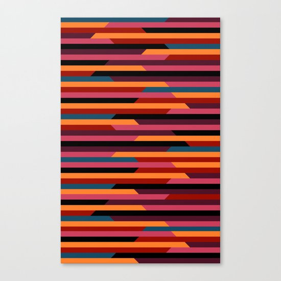 Geometric stripes Canvas Print