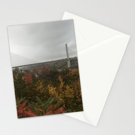 Fog in Maine Stationery Cards