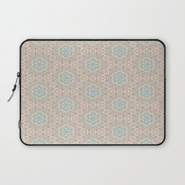 Seemless Pattern : White Snowflake Lace with Spectrum Background Laptop Sleeve