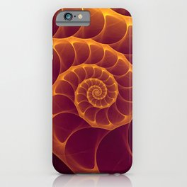 Infinity   Gold Burgundy Sea Shell iPhone Case