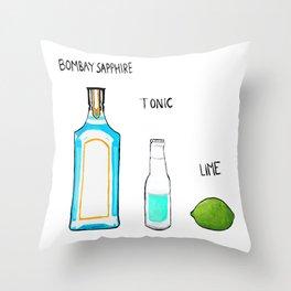 Bombay Sapphire Gin  Throw Pillow