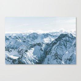 Aspiring range from above Canvas Print