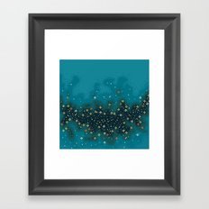 Blue Rift Galaxy (8bit) Framed Art Print