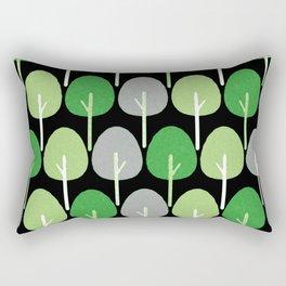 Aromantic Pride Simple Textured Trees Pattern Rectangular Pillow