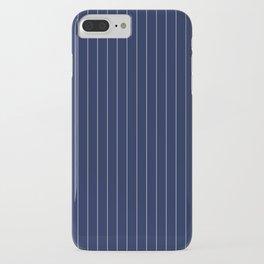 Blue Indigo Navy Pinstripes Line iPhone Case